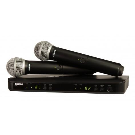 shure blx288/pg58 sistema inalambrico con doble microfono