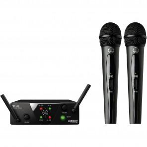 akg wms40mini dual set doble microfono inalambrico