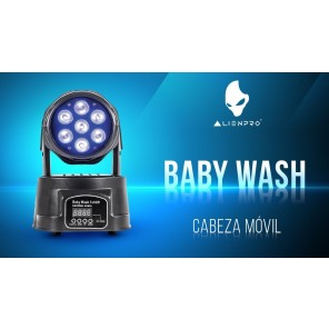 Alien baby wash 7x10w luces