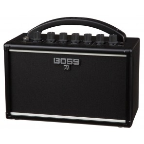 """Combo amplificador portátil para guitarra eléctrica 7 watts de potencia con un altavoz de 4"""" Voces de 3 amplificación: Clean, Crunch y Brown Ecualizador de 3 bandas incorporado y efecto Delay Funciona con 6 pilas AA para hasta 7 horas de desempeño Se pued"""