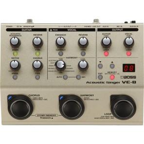 Boss VE-8 ACOUSTIC SINGER procesador multi-efectos para guitarra acústica y micrófono