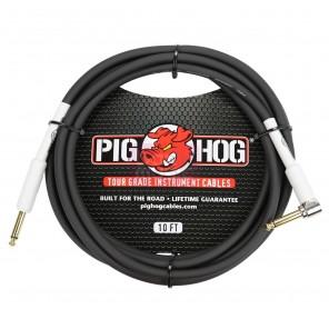 """PigHog Cable Instrumento 1/4"""" a R-1/4"""" - 10ft Cable para instrumento de alto rendimiento! Mide 10ft (3m) de largo, cuenta con alambres extra gruesos de 8mm y conectores recto y angulado de 1/4"""" con calidad de alto rendimiento Los cables Pig Hog están prec"""