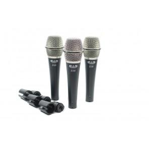 CAD d38x3 paquete de 3 microfonos dinamicos con estuche
