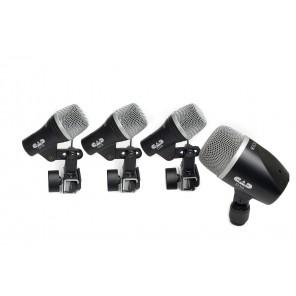 cad cad stage 4 set microfonos para bateria con estuche