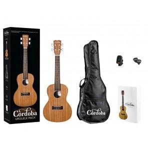 cordoba ukulele pack acustico con bolsa y afinador