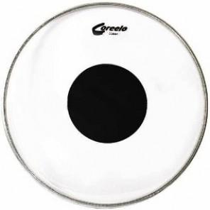 """Coreelo 14"""" transparente centro negro Parche transparente con centro negro para tom de 14"""""""