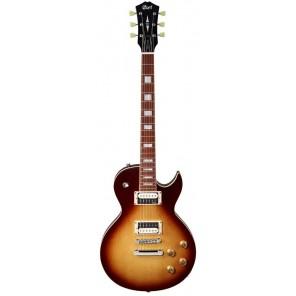 """CORT CR300 El nuevo diseño clásico de la guitarra Cort CR300 tiene una tapa de Maple Premium curveado de 15mm (19/32"""") única y una construcción de cuello sin atornillar La gruesa tapa de Maple en cuerpo de Caoba es una combinación clásica que simplemente"""