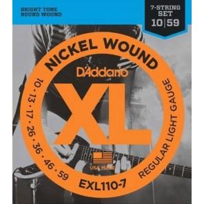 d'addario exl110-7 Encordadura para guitarra eléctrica de 7 cuerdas fabricada en nickel