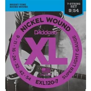 d'addario exl120-7 Encordadura para guitarra eléctrica de 7 cuerdas fabricada en nickel