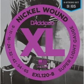 d'addario exl120-8 Encordadura para guitarra eléctrica de 8 cuerdas fabricada en nickel