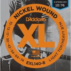 d'addario exl140-8 Encordadura para guitarra eléctrica de 8 cuerdas fabricada en nickel