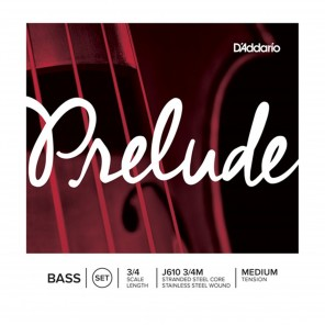 d'addario prelude j610 3/4m bass encordadura para contrabajo 3/4