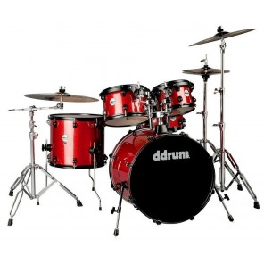 Batería acústica DDRUM JOURNEYMAN J2P522 red white sparkled