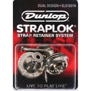 dunlop straplock sls1031n Juego de candados para correa de instrumento Color cromo