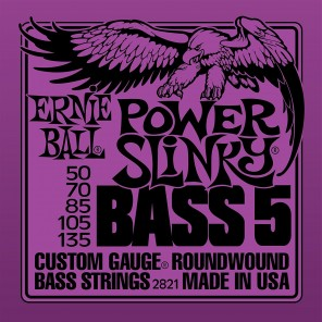 ernie ball 2821 power slinky bass 5-strings Encordadura nickelada para bajo eléctrico de 5 cuerdas