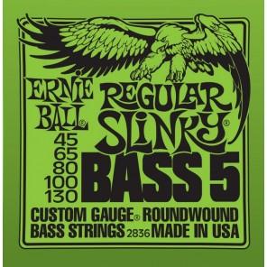 ernie ball 2836 regular slinky bass 5-strings Encordadura nickelada para bajo eléctrico de 5 cuerdas