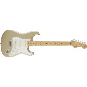 fender stratocaster custom 50's Guitarra eléctrica Stratocaster diseño Custom 50's Style color Shoreline Gold Cuerpo: Madera de Aliso Mástil fabricados en Maple de 1 pieza con forma suave en 'V' y acabado de poliuretano brillante Diapasón de Maple con 21