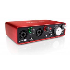 focusrite scarlett 2i2 Interfaz de grabación profesional para música digital