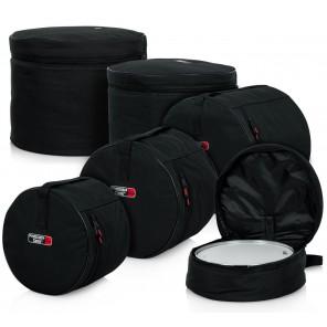 Gator gpstandard100 drum bag standard set Set de bolsas para batería para configuración Standard (12-13-14-16-22) Construcción duradera de nylon de 600 deniers Acolchado interior de 10mm Cómodas correas de transporte Diseño compacto plegable