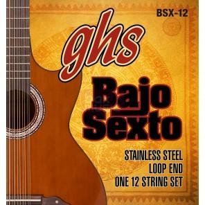 ghs bsx-12 Encordadura de acero inoxidable para bajo sexto