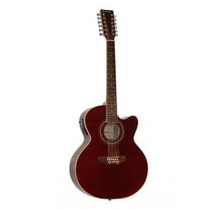 glen burton gaj12 Guitarra electro-acústica tamaño jumbo de 12 cuerdas