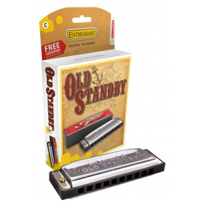 hohner 34b old stand by armonica de 10 orificios tonos G y C