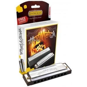 hohner hot metal armonica diatonica de 10 orificios en tonos G y C
