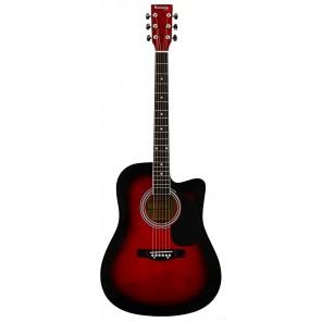 Huntington GA41 Guitarra dreadnought acústica Cuerpo - Tilo Brazo y Puente de madera Catalpa 20 trastes en diapasón Catalpa Varios colores
