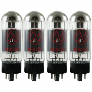 jj electronic 6l6gc quad juego de 4 bulbos de poder eslovacos calibrados