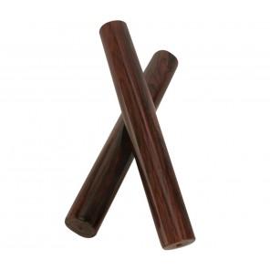 """lp grenadilla wood clave lp261 La Clave es el patrón rítmico fundamental para gran parte de la música latina y se toca golpeando dos palos de madera, produciendo un sonido brillante y crujiente La clave y el striker son del mismo tamaño (8 """"L x 1.25"""" W) C"""