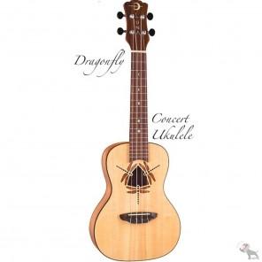 luna uke dyf spr dragonfly solid spruce ukulele acustico con bolsa