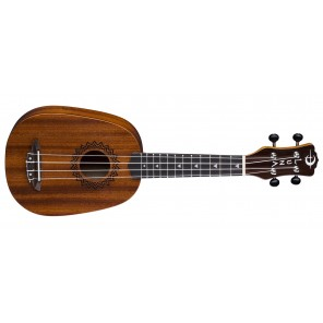 luna vintage mahogany pineapple ukulele acustico caoba