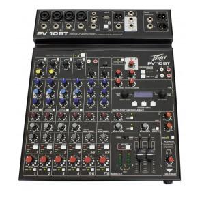 peavey pv10bt mezcladora analogica de 10 canales con bluetooth