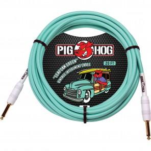 PigHog Vintage Series 'Seafoam Green' 20ft Cable de la serie Vintage color Seafoam Green de 20ft (6.1m) de longitud con punta recta Cuenta con cableado extra grueso, chaquetas tejidas de alta calidad únicas, conectores con calidad de alto rendimiento y de