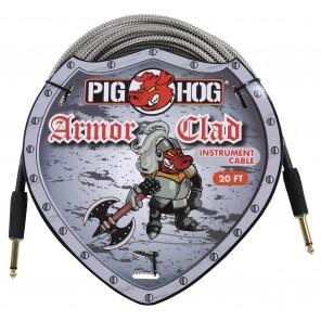 Pig Hog Armor Clad Series Cable 20ft Los cables Pig Hog Armor Clad Series están precisamente sobreconstruidos para resistir a las condiciones de viaje más duras imaginables Cuentan con un cable de grado extra grueso, chaquetas metálicas estilo conducto ex