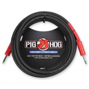 """PigHog Cable Altavoces 25ft Cable para altavoces de alto rendimiento! Mide 25ft (7.6m) de largo, cuenta con alambres extra gruesos de 8mm y conectores rectos de 1/4"""" con calidad de alto rendimiento Los cables Pig Hog están precisamente construidos para re"""