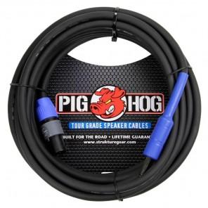"""PigHog Cable Altavoces 1/4"""" a SpkON - 50ft Cable para altavoces de alto rendimiento! Mide 50ft (15m) de largo, cuenta con alambres extra gruesos de 8mm y conectores SPKON y rectos de 1/4"""" con calidad de alto rendimiento Los cables Pig Hog están precisamen"""
