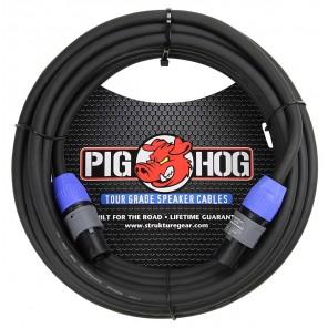 PigHog Cable Altavoces SpkON - 50ft Cable para altavoces de alto rendimiento! Mide 50ft (15m) de largo, cuenta con alambres extra gruesos de 8mm y conectores SPKON con calidad de alto rendimiento Los cables Pig Hog están precisamente construidos para resi