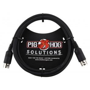 PigHog Cable MIDI 6ft Cable Midi de 6ft (2m) de longitud que cuenta con conectores de 5 pines moldeados para trabajo pesado con alivio de tensión incorporado, una funda de PVC extra gruesa y resistente Este cable especial está diseñado para mantener la in