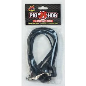 PigHog Power Pig 10 Spot Daisy Chain Puede extender el alcance de su adaptador de 9V proporcionando alimentación para hasta 10 pedales a la vez (adaptador de corriente de 9V no incluido) Los conectores en ángulo recto están espaciados a una distancia gene