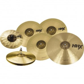 "sabian hhx super set Super paquete de 7 platillos de la línea HHX aleación B20' que incluye: - 1 Splash 10"" - Par de X-Celerator Hi Hats 14"" - 1 Studio Crash 14"" - 1 Studio Crash 16"" - 1 Studio Crash 18"" - 1 Stage Ride 20"""