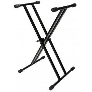 strukture double braced keyboard stand sk-200kd Los soportes de teclado Strukture están hechos de acero resistente y diseñados para ser el mejor soporte de teclado de doble brazo en el mercado Este soporte presenta un pasador de ajuste de altura sin embra