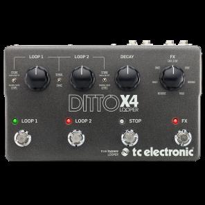 Pedal TC Electronics DITTO X4 LOOPER generador de bucles para grabación