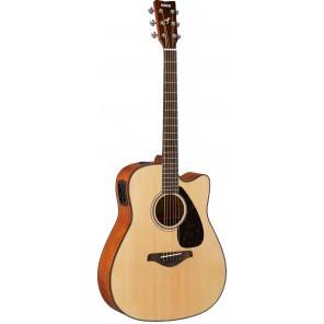 YAMAHA FGX800C A/E Guitarra electro-acústica tipo dreadnought Fabricada en madera Nato con tapa de Abeto de acabado brilloso Brazo delgado de Nato con diapasón de PaloRosa de 20 trastes Incluye preamp de tres bandas y pastilla en Yamaha SYSTEM 66